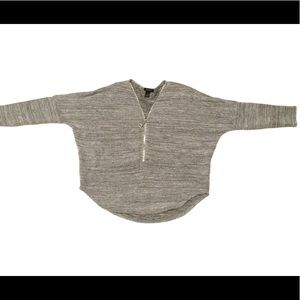 2/$22 Alfani Grey Zippered V-Neck Dolman Sweater